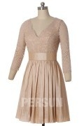 Solde robe de cocktail champagne taille 40