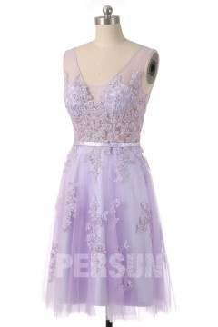 Solde robe de soirée lavande taille 36
