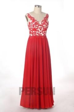 Solde robe de soirée rouge taille 44