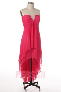 Solde robe de cocktail rose bonbon Taille 46