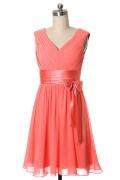 Solde petite robe corail orange pour mariage