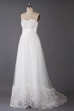 Solde robe de mariée beige longue