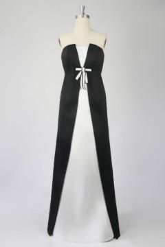 Solde robe de soirée blanche & noire taille 40