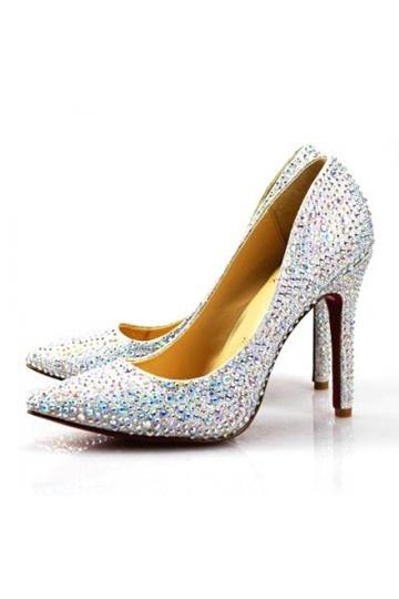 Diamond mit roter Sohle Schlupfschuh Plateauabsatz Damen Pumps Persunshop