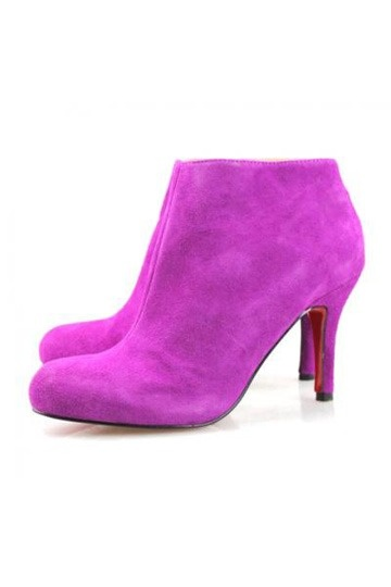 Suede Ankle Boots Purple