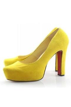 Daffodile Suede Platform Pump Yellow