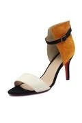 Sexy mit roter Sohle Plateauabsatz Schnalle Damen Sandaletten