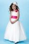 Cute Ball Gown Floor Length Flower Girl Dress With Bow