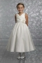 Cute Taffeta Ball Gown V Neck Ankle Length Flower Girl Dress