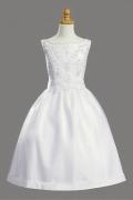 Vintages weißes Knielanges Ball gown Kommunionskleider