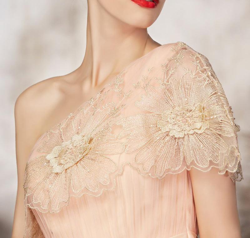 One shoulder design inspiration for prom dress