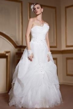 Lissa Robe de mariée princesse avec jupe romantique en organza
