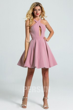 cute short pink homecoming dress for teens