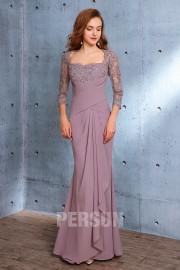 Elegantes Meerjungfrau Abendkleid mit Spitzen applikation Ärmeln