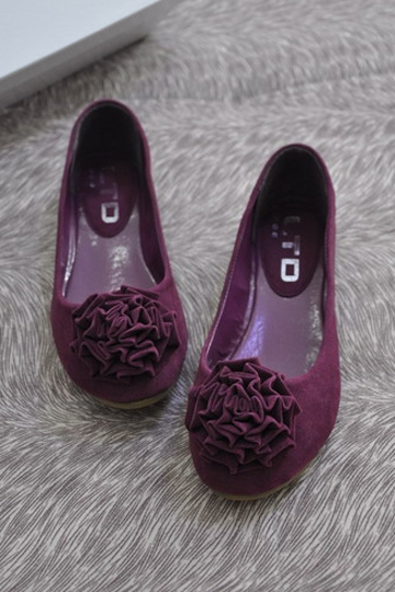 Solid Flower Purple Flat
