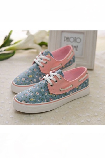 Casual Flowers Print Low Top Sneaker