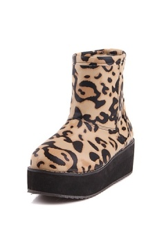 Modern Leopard Ankle Short Snow Boots