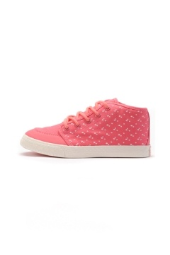 Flower Print High-Top Lace Up Sneaker