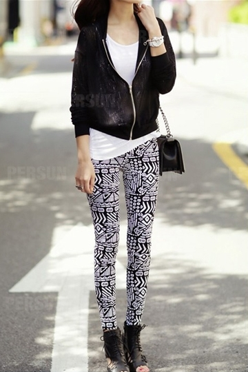 Graphic Print Legging