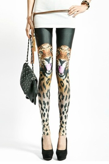 Tiger Pattern Slim Leggings