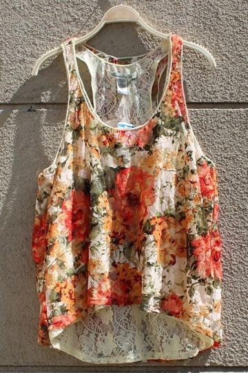Floral Summer Lace Vest
