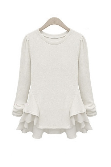 Sweet Flouncing Chiffon T-shirt
