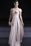 One Shoulder Bows Beading A-line Chiffon Evening Dress