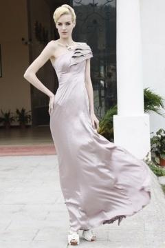 One Shoulder Floor length Evening Dress In Stock