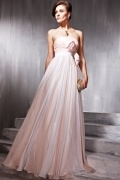Bows Ruched Strapless Tencel Sheath Formal Evening Dress