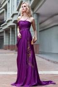 Solde Robe longue de soirée violette T38