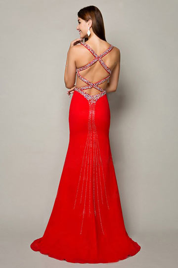 Sexy Backless Design for Prom dress 2017