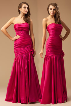 Chichester Fuchsia Trumpet Prom Dress