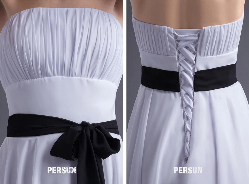 white short formal dress chest