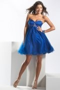 2013 New Cheap Strapless Blue Baby Doll Prom/Cocktail Dress