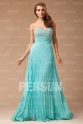 Elegant Strapless Pleated Beading A-line Prom Dress