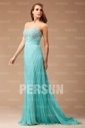 2014 Strapless Pleated Beaded Prom / Evening Dress
