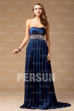 2013 Beaded Strapless Empire Floor-length Evening Dress