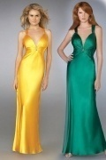 Beaded Deep V neck Empire Sheath Prom / Evening Dress