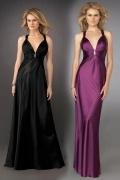 Tiefer V Ausschnitt Etui Linie Empire Ballkleid / Abendkleid mit Perlen verziert