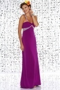 Beaded Spaghetti Straps Empire Sheath Prom Dress