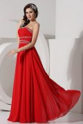 A line Strapless High Waist Beaded Prom / Evening Dress