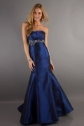 Elegant Beaded Strapless Mermaid Prom/Evening Dress