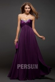 Pleats Strapless Chiffon A line Formal Dress