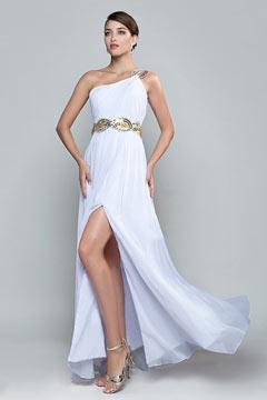 Robe de soirée longue blanche