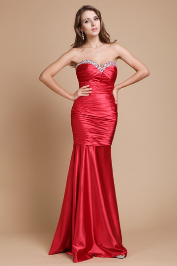 Sexy Sweetheart Strapless Beaded Prom / Evening Dress