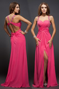 Spaghetti Strap Sweetheart Slit Prom / Evening Dress