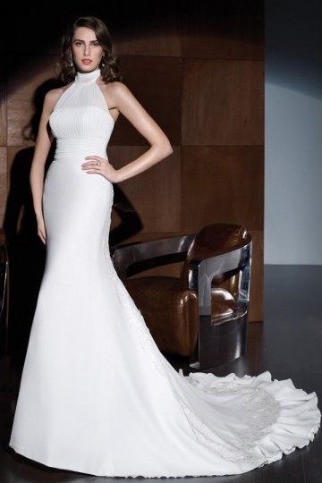 Günstig Mandarin Empire Meerjungfrau Spitze Hochzeitskleid - Online ...