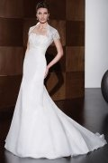 Strapless Pleated Mermaid Train Wedding Dress