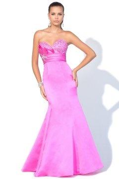 Ferndown Sweetheart Strapless Mermaid Light Fuchsia UK Prom Dress