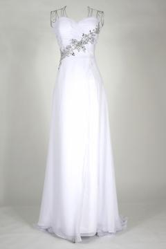 Frodsham Appliques Strapless White UK Prom Dress